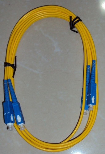 cable patch cord de fibra optica monomodo sc/sc 9/125um 3mts