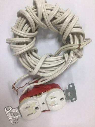 cable phelps dodge blanco con enchufe usado de 2 mts tienda