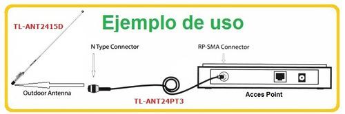 cable pigtail 3m rp-sma tp-link tl-ant24pt3 puebla