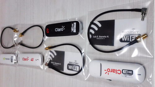 cable pigtail conector crc9/ts-9 + modem usb bitel 3g,3.5g