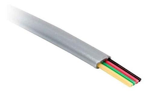 cable plano telefonico alarma 2 pares 4 hilos 100 mts