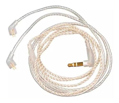 cable plata para audífonos kz zs3 zs5 zs6 zst ed12 zs10 zst