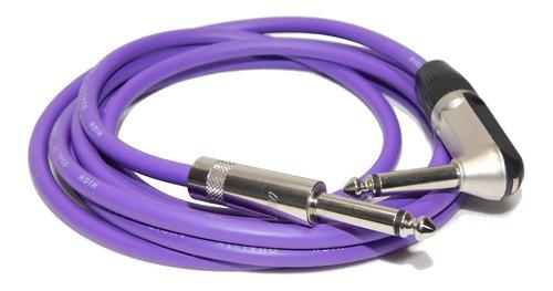 cable plug 90º a plug para instrumentos neutrik rean 2mts