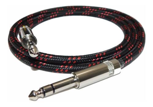 cable plug a plug estereo textil profesional