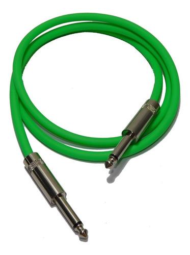 cable plug a plug  verde fluor calidad profesional 1mts hamc