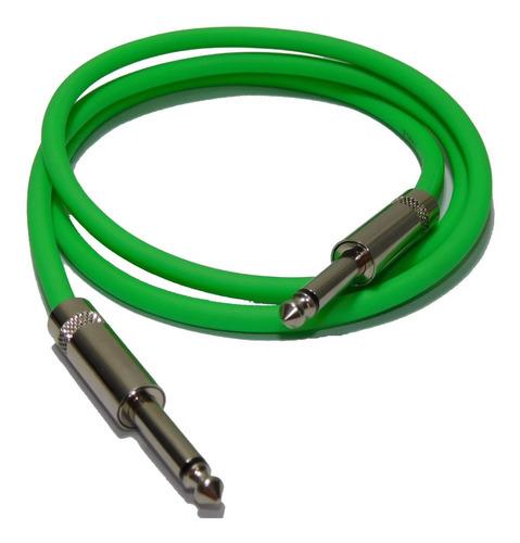cable plug a plug  verde fluor calidad profesional 4mts hamc