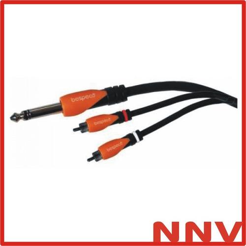 cable plug estereo a 2 rca macho 5 metros bespeco slysrm500