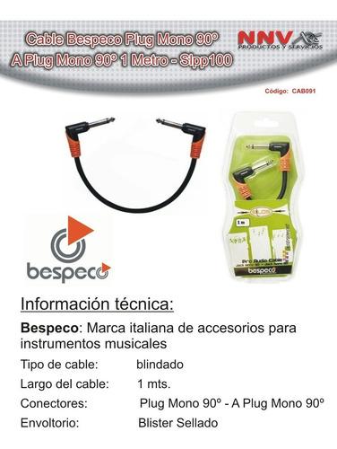 cable plug mono 90º a plug mono 90º 1 metro bespeco slpp100
