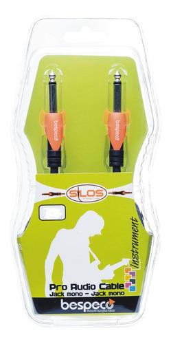 cable plug mono a plug mono 50 cm bespeco sljj050 guitarra