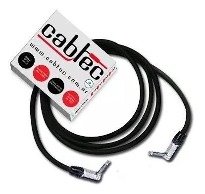 cable plug plug 90° mono ts audio cabtec neutrik rean 50cm