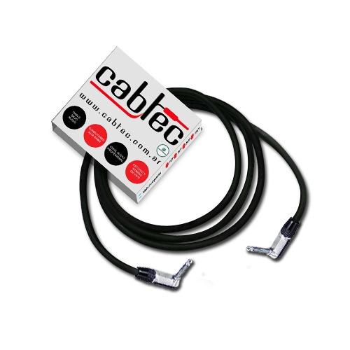cable plug plug 90º ts mono neutrik rean 6 metros cabtec