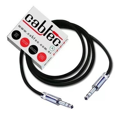 cable plug plug stereo trs de audio neutrik rean 1m cabtec