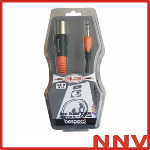 cable plug stereo a xlr macho 4,5 metros bespeco slsm450 nnv
