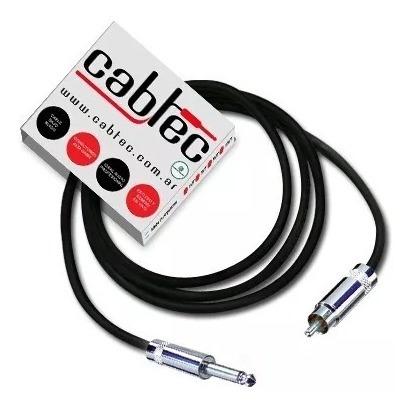 cable plug ts mono a rca de audio neutrik rean 1m cabtec
