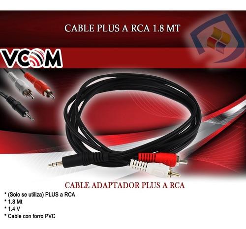 cable plus 3.5mm a 2 rca 1.5mts alta calidad vcom nuevo
