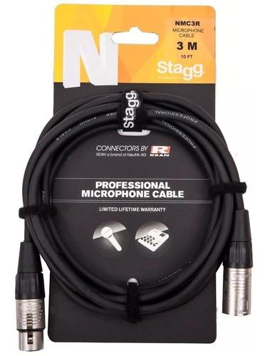 cable p/micrófono 3m canon-canon balanceado stagg nmc3