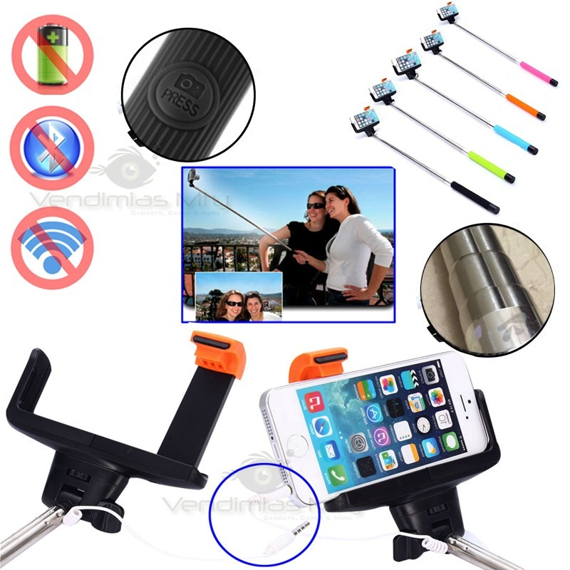 cable pod kjstar monopod selfie stick brazo gopro baston en mercado libre. Black Bedroom Furniture Sets. Home Design Ideas