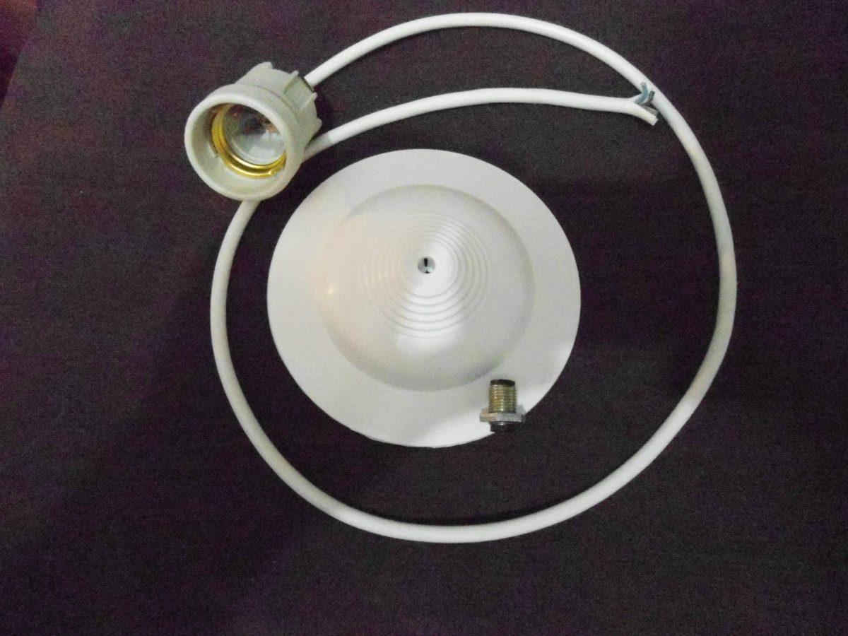 Cable Portalampara Lampara Colgante mimbre floron Hilo Para 8nwvm0N