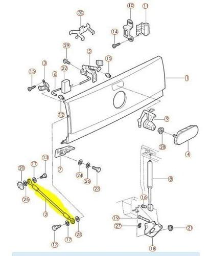 cable porton trasero vw saveiro desde 2010