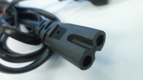 cable power en ocho a 2 patas redondas 220v 1.6 mts dz7061