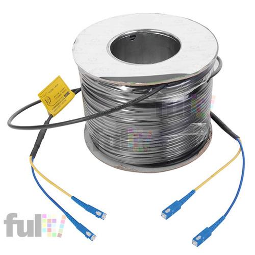 cable prefabricado 200 metros fibra optica monomodo sc 9/125