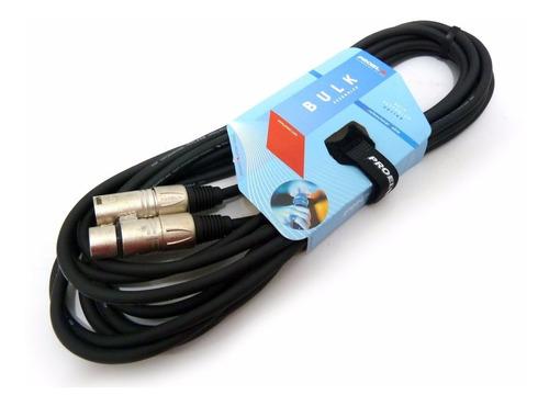cable proel xlr canon blindado balanceado microfono 5 metros