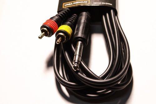 cable profesional rca macho plug stereo 10mts parquer cuota