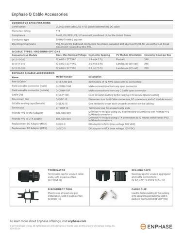 cable q de 1.3m vertical 60/72 celdas para enphase iq