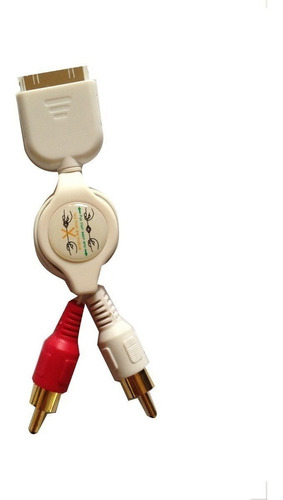 cable rca con conector ipod/iphone retractil