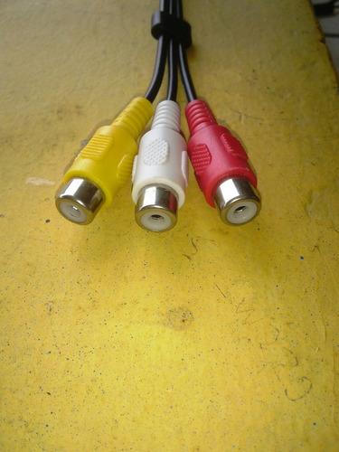 cable rca con plug macho