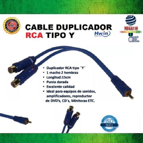 cable rca tipo y 1 macho y 2 hembras multiplica conexiones