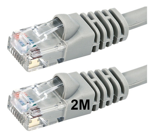 cable red patch cord 2 mts utp pc cat 6 rj45 ditron ethernet