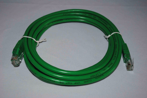 cable red patch cord 3 mts cat 5e verde 5pzas  g10