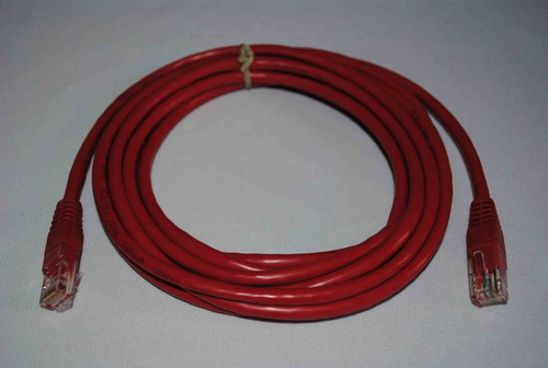 cable red patch cord 3 mts cat5e color rojo g11