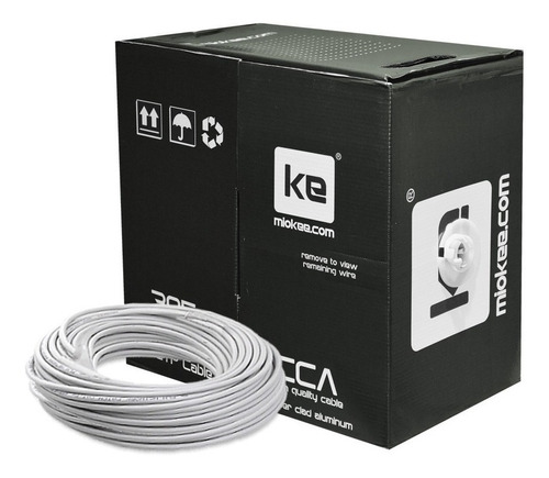 cable red utp cat. 5e interior miokee, patch carrete 305 mts
