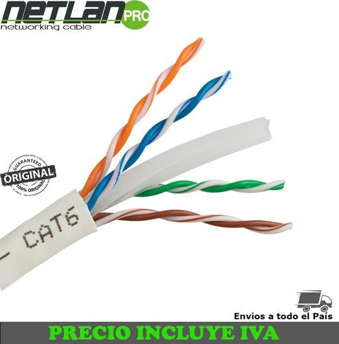 cable red utp categoria 6 cat6 interior 305 metros