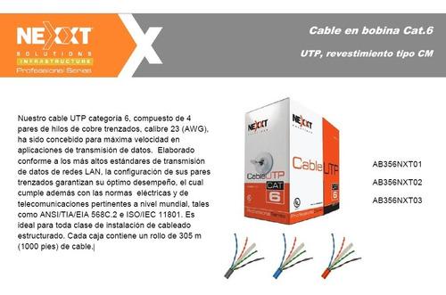 cable red utp nexxt cat 6e 305m interior certificado gigabit