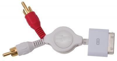 cable retráctil de audio compatible con ipod. iphone y ipad