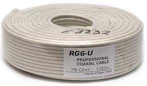 cable rg6  coaxial   para televisión satelital..por rollos