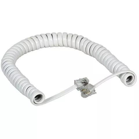 cable rulo telefonico armado 30 cm rj9 blanco e8051
