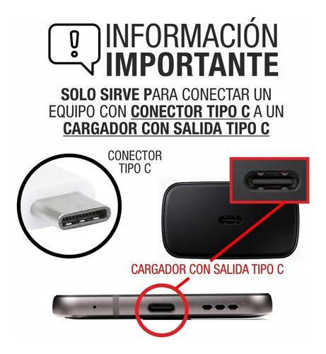 cable samsung a70 usb 3.1 tipo c a tipo c cargador note 10