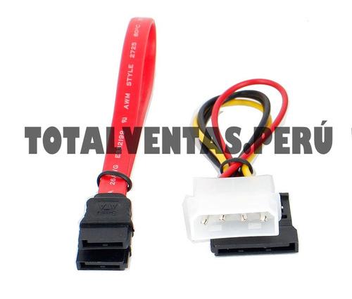 cable sata de datos + cable sata de poder