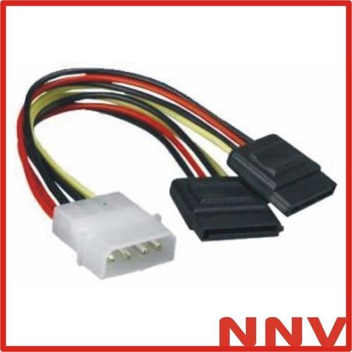 cable sata power doble y - adaptador molex a 2 sata  - nnv