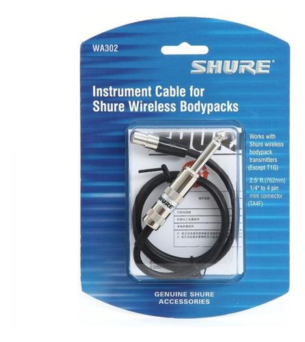 cable shure wa302 para sistemas inalambricos guitarra bajo