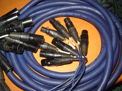 cable snake 8 canales 5.5mts canon balanceado xlr