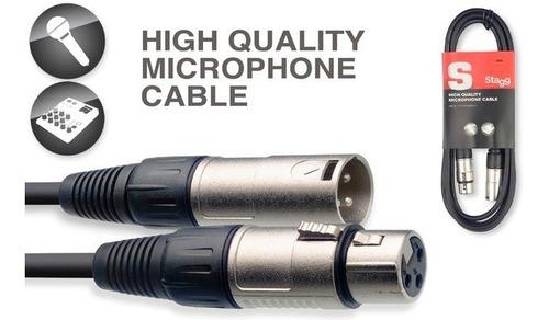 cable stagg canon canon 6 metros xlr balanceado
