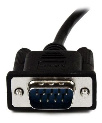 cable startech.com scnm9fm2mbk 2m módem nulo null serial db9