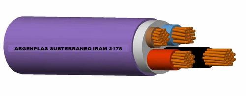 cable subterraneo tipo sintenax iram 4x6mm2 marca argenplas