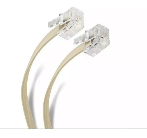 cable telefónico 4 hilos plug-plug 7.50 mts fulgore fu0647