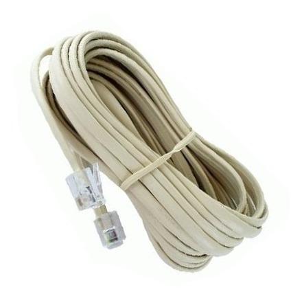 cable telefonico armado 7 mts rj11 crema claro e7020